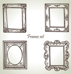 Frame set hand drawn vector image vector image