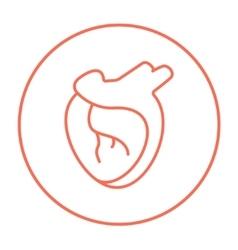 Heart line icon vector image vector image
