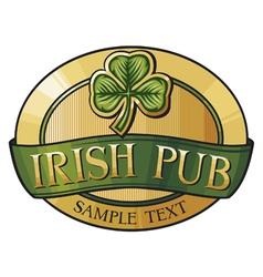 Irish pub label design vector image vector image