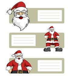 Santa Claus blank labels vector image vector image