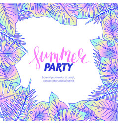 summer party jungle foliage flyer vector image