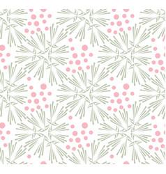 Taraxacum floral seamless pattern vector