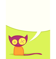 toy cat vector image vector image