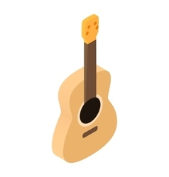 Acoustic guitar isometric 3d icon vector image
