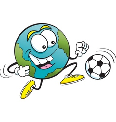 Cartoon Soccer Earth vector image vector image