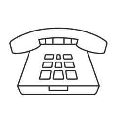 Deskphone thin line icon vector image vector image