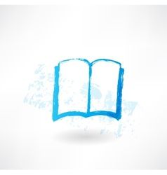 Open book grunge icon vector image