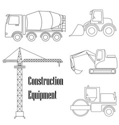 a set of design elements for construction five vector image