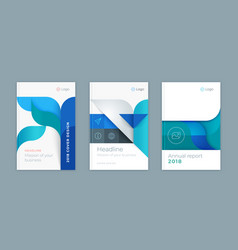 abstract business template set vector image