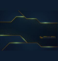 Abstract luxury blue tech design template vector