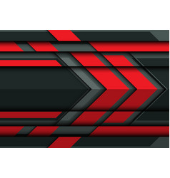 Abstract red arrow on gray metal 3d vector