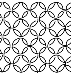 Abstract rings seamless pattern for your design vector image