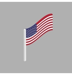 American flag is a perspective view vector image