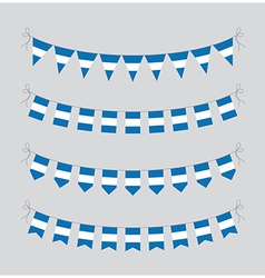 argentinian bunting vector image