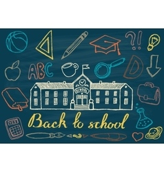Back to school hand drawn vector