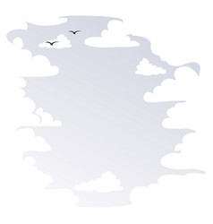 Background with white clouds vector