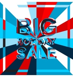 Big ice sale poster with BIG SALE text vector image