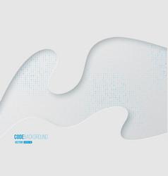 binary code digital technology concept vector image