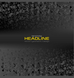Black abstract grunge futuristic background vector