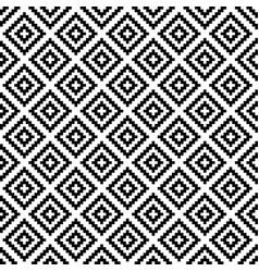 Black and white squares pixel art seamless pattern vector