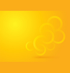 brightly yellow summer background with circles vector image