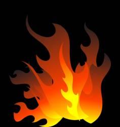 Burning flames vector