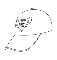 Cap football fanfans single icon in outline style vector