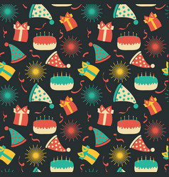 celebration festive seamless pattern with party vector image