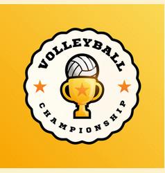 Champion volleyball logo modern professional vector