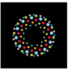 circular solid round logo vector image