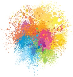 Color background paint splashes vector
