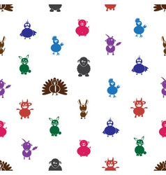 color farm animals with mild mental disabilities vector image