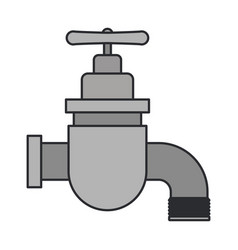 color image of faucet icon vector image
