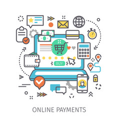 concept of online payments vector image