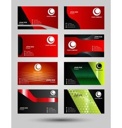 Corporate business card set vector