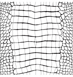Crocodile skin black and white seamless pattern vector