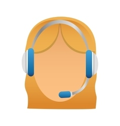customer support Icon image vector image