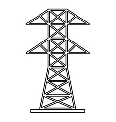 Electric tower icon outline style vector