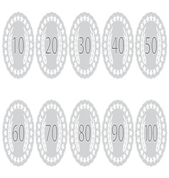 Emblem badge anniversaries set vector