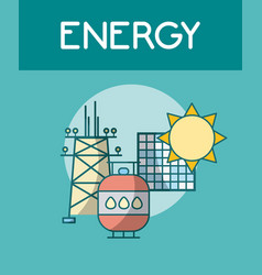 Energy power concept vector