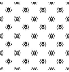 eye pattern vector image