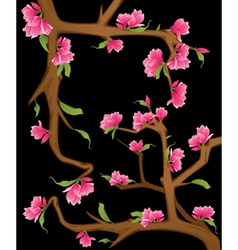 Flowers on a branch vector image