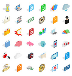 folder icons set isometric style vector image