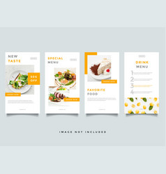 Food and culinary instagram stories promotion vector