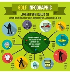 Golf infographic flat style vector