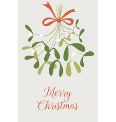 hand drawn mistletoe new year and christmas vector image