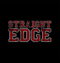 Hardcore music straight edge movement vector