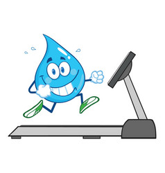 healthy water drop cartoon character vector image