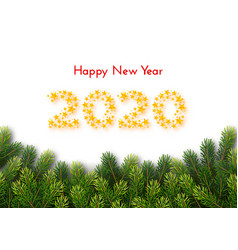 Holiday gift card happy new year 2020 vector