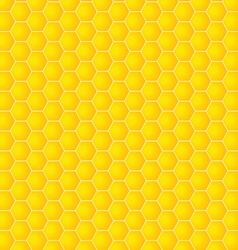 Honeycomb background yellow vector